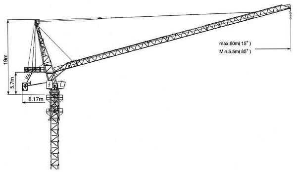 克瑞D260动臂系列塔式起重机