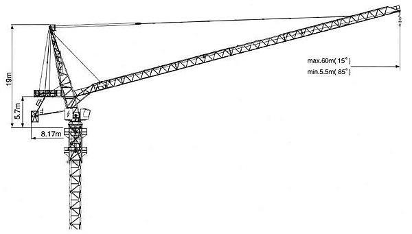 克瑞D300动臂系列塔式起重机