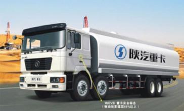 陕汽德龙6×4液罐运输车高清图 - 外观