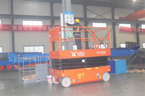 运想重工8米电动剪叉GTJZ08D高空作业平台