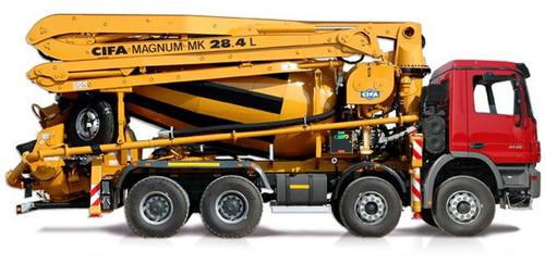 中联重科ZLJ5435THB(MK 28L)搅拌臂架泵车
