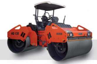 悍马HD 138 双钢轮压路机高清图 - 外观