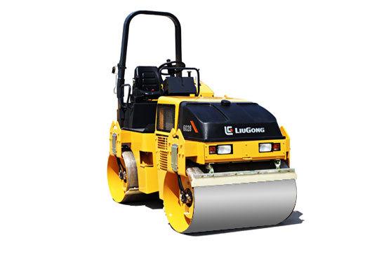 柳工CLG6028小型养护双钢轮压路机