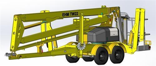 东迈重工TW22/TW37型拖车轮式