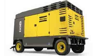 阿特拉斯·科普柯拖车安装型喷油旋转式螺杆移动式压缩机7-25 bar(100-365 psig)