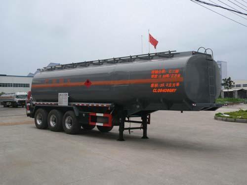 楚飞三轴易燃液体/35.3立方罐式运输半挂车