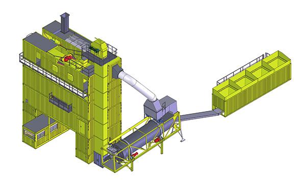 林泰阁CSM2500强制振动筛分型标准集装箱式沥青搅拌站
