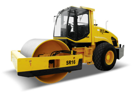 山推SR16全液压单钢轮振动压路机
