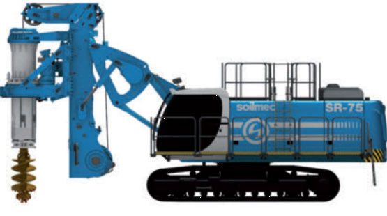 土力机械SR75LHR矮桅杆入岩旋挖钻机
