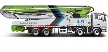 雷萨重机52米泵车高清图 - 外观