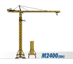 川建M2400(80t)水平臂塔式起重机高清图 - 外观