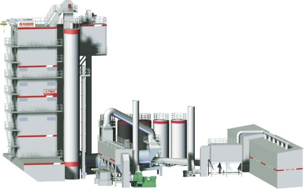 中交西筑4000绿色智能型一体化再生沥拌设备