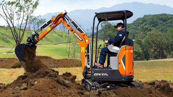 斗山DX17z迷你型挖掘机