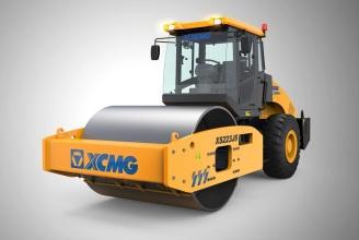 徐工XS223JS单钢轮压路机高清图 - 外观