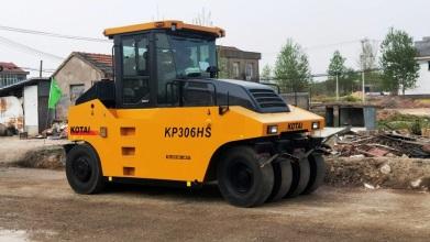 科泰重工KP306HS轮胎压路机高清图 - 外观