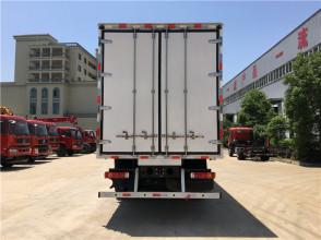 程力箱长9.53米欧曼前四后八冷藏车高清图 - 外观