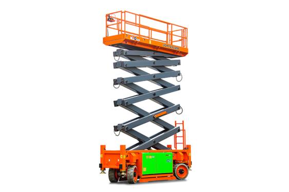 鼎力JCPT2212DC自行走越野剪叉式高空作业平台(电池驱动)