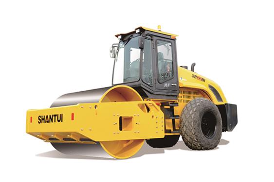 山推SR22液压驱动单钢轮振动压路机