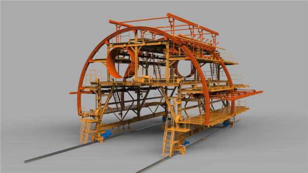铁建重工FSG12G防水板钢筋铺设台车