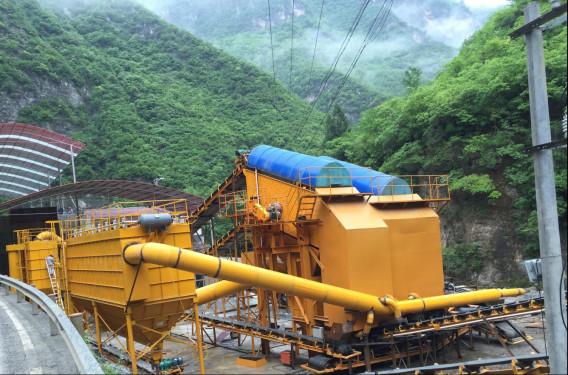 铁建重工DG300-Y固定式洞碴加工处理生产线
