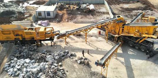 铁建重工DY300-Y移动式洞碴加工处理生产线