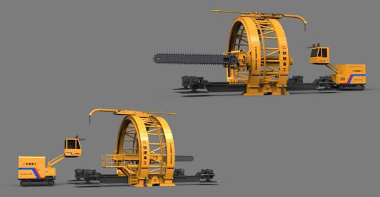铁建重工YQC6000拱架式预切槽机