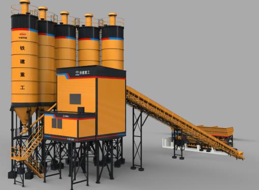 铁建重工HZS240K快装式混凝土工程搅拌站