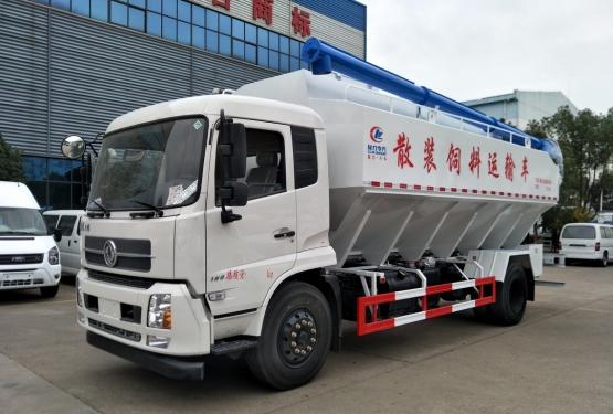 楚胜东风天锦单桥22方散装饲料车