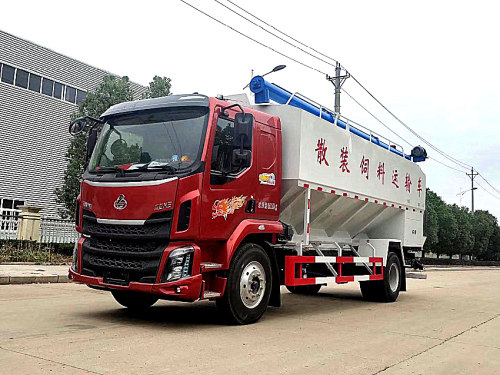 楚胜柳汽乘龙28方散装饲料车