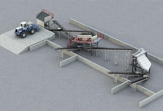 南方路机PSL-3沥青混凝土回收料筛分设备